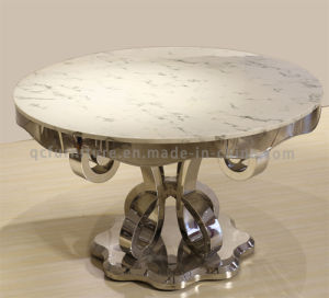 Fancy Design Round White Marble Dining Table pictures & photos