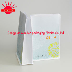 2016 Custom Flat Bottom Bag/ Brown Striped Kraft Paper Bag / Gusset Bag with Zipper Lock/Square Bottom Plastic Bag pictures & photos