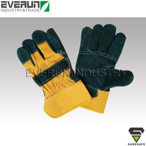 Industrial Leather Gloves Work Gloves Safety Gloves pictures & photos