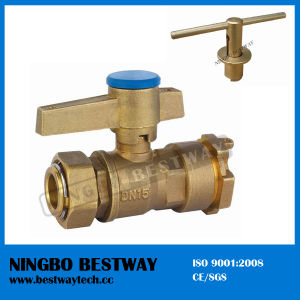 Brass Ball Valve with Locking Handle for Water Meter (BW-L01) pictures & photos