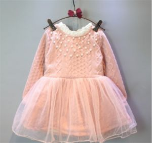 Kd1123 Winter Dress Beaded Princesss Dress with Lace pictures & photos