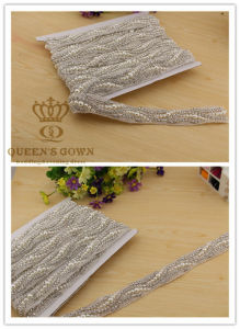 Bride Wedding Dress Handmade Beaded Rhinestone Belt, Factory Direct pictures & photos