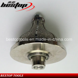 F Shape Vacuum Brazed Diamond Hand Router Bits for Limestone pictures & photos