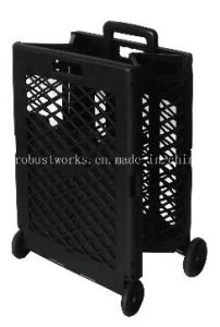 Extra Capacity Plastic Foldable Shopping Cart (FC404KP-1) pictures & photos