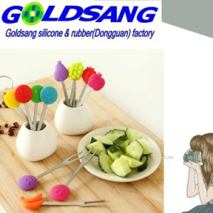 Hot Selling Cute Silicone Fruit Fork Holder pictures & photos