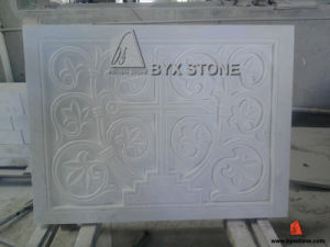 Volakas White Marble Stone Wall Panel Cladding with Relief Carving pictures & photos