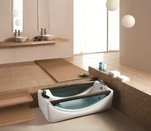 1.82 Meters Freestanding Indoor Fiberglass Acrylic Whirlpool Bathtub M-2045 pictures & photos