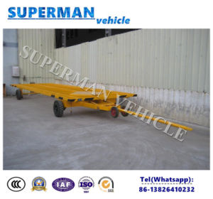 1t Utility Flatbed Industrial Cargo Transport Full Trailer  /Drawbar Trailer pictures & photos