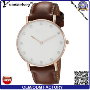 Yxl-796 Hot Promotion Rose Gold Case Men Wrist Watch in Diamond Stone Face pictures & photos