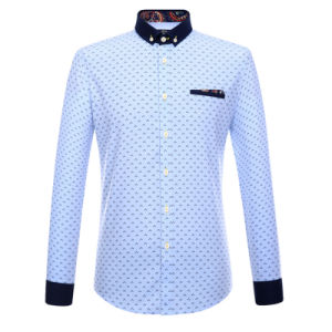 2016 Men′s Office Cotton Printed Dress Shirts