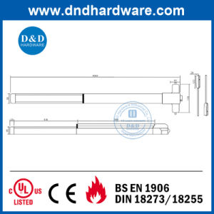 Ss304 Exit Device with Fire Rated Standard pictures & photos