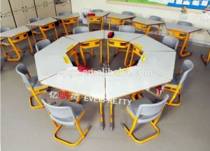 Hot Sale Children Furniture Kid′s Wooden Desk and Chair, Kindergarten Desk Chairs Made in China pictures & photos