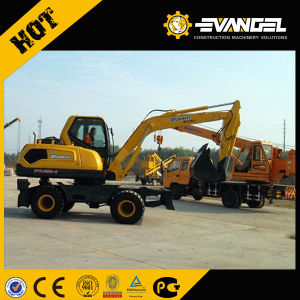 8 Ton Small Wheel Excavator Wyl85 pictures & photos