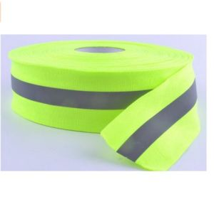 Reflective Warning Tape Sew-on Lime Green Gray pictures & photos