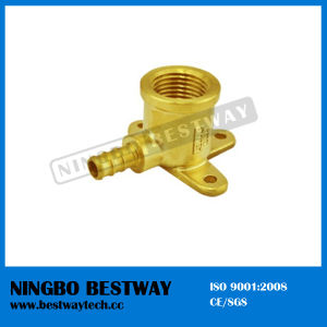 Lead Free Brass Pex Female Wallplate Barbed Elbow Pipe Fitting pictures & photos