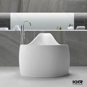 Resin Stone Customized Bathtub Shape Pure Black Solid Surface Stone Bathtub pictures & photos
