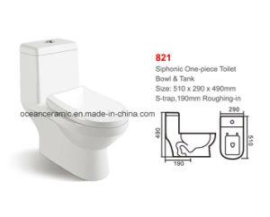 Ceramic One-Piece Children Toilet (No. 821) pictures & photos