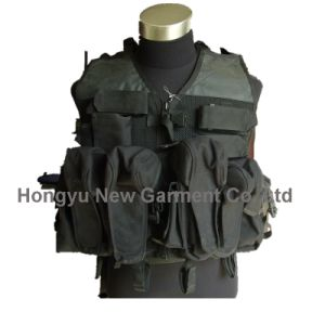 Army/ Police Black Military Equipment Tactical Vest (HY-V045) pictures & photos