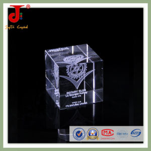 Bright Cube Laser 3D Crystal for Souvenir Gift pictures & photos