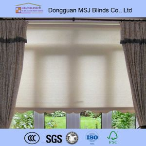 beautiful sunscreen or blackout painting fabric roller blinds pictures & photos