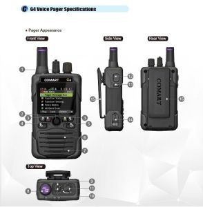 P25 Multi-System Voice Fire Pager, for Firefighter Volunteer Fire Fighting