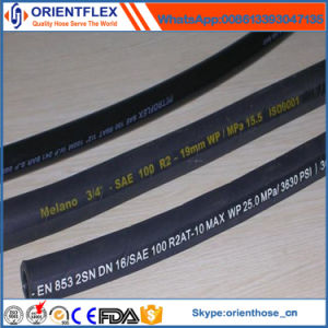 Rubber Hydraulic Hose SAE 100r2 Tube pictures & photos