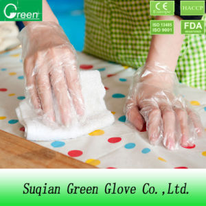 Clear Cheap PE Gloves with Elastic pictures & photos