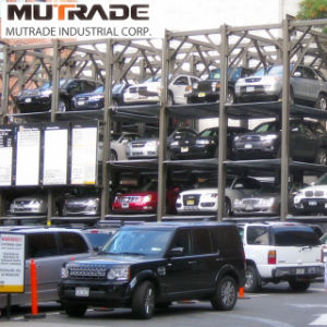 Four Post 3 Floors Hydraulic Car Stacker Parking Lift pictures & photos