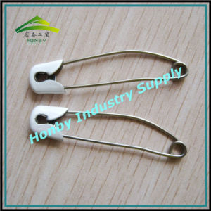Double Safety Locking Stainless Steel Diaper Safety Pins (P160720A)