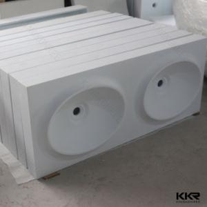 Sanitaryware Acrylic Solid Surface Bathroom Wall Hung Washbasin (B170811) pictures & photos