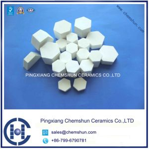 Hexagon Alumina Ceramic Tile for Rubber Ceramic Composite Vulcanization pictures & photos