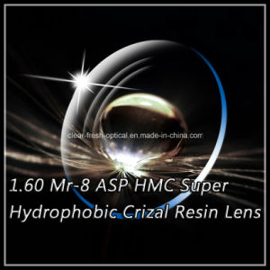1.60 Mr-8 Asp Hmc Super Hydrophobic Crizal Resin Lens