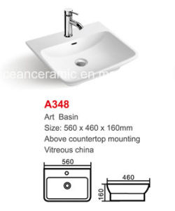 Ceramic Wash Basin (No. A348) Irregular Art Basin Above Counter Mounting pictures & photos