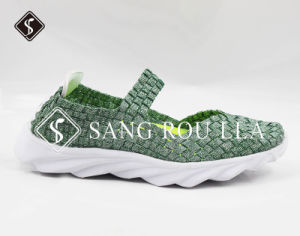 New Style Children and Adult Walking Weave Shoes pictures & photos
