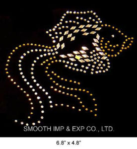 Wholesale Kitten Design Logo Rhinestone Iron on Transfer Motif Patch pictures & photos