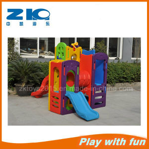 Indoor Double Plastic Slide Playground for Preschool pictures & photos