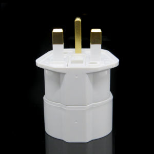 Fused Schuko / Germany / France / South Korea to UK Adapter Power Plug pictures & photos