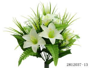 Artificial/Plastic/Silk Flower Lily Bush (2812037-13) pictures & photos