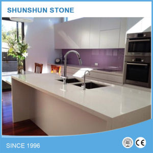 Style White Artificial Stone Quartz Work Top for Kitchen pictures & photos