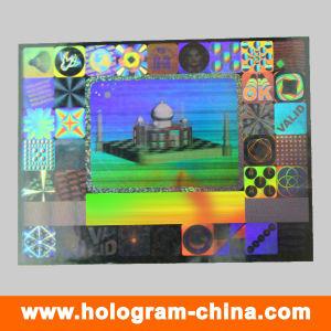 Custom Logo Design Pet Square Security Hologram Stickers pictures & photos