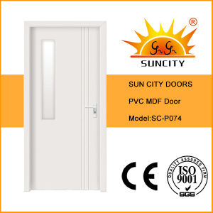 Single White Glass MDF PVC Doors Price (SC-P074) pictures & photos