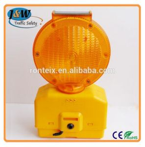 PC Shell Solar Panel Traffic Warning Light with High Brightness LED pictures & photos