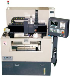 Spindle CNC Engraving Machine for Mobile Glass Processing (RZG400S_CCD)