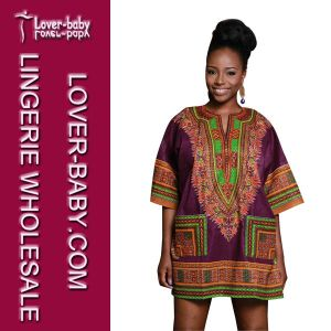 Casual Lady Traditional African Formal Shirt Dresses (L28068-2) pictures & photos