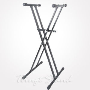 Heavy-Duty Double-X Keyboard Stand (TKB136) pictures & photos