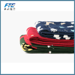 Colorful Christmas Fabric 100% Cotton Tube Gift Socks pictures & photos