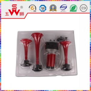 215/160/135mm Red Three-Way Air Horn for Motor Parts pictures & photos