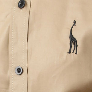 Long Sleeve Slim Fit Brown Dress Shirt (A432) pictures & photos