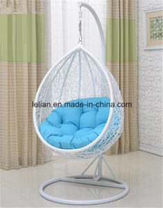Outdoor Black Rattan/Wicker Swing Hanging Chair in Patio Furniture (LL-RST008) pictures & photos