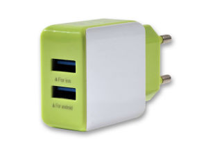 Dual USB Cell Phone Charger Portable Wall Charger pictures & photos
